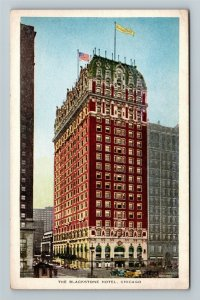 Chicago IL-Illinois, The Blackstone Hotel, Advertising, Vintage Postcard