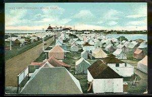 pc9232 postcard Coronado Beach California Tent City not postally used