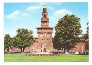 Italy Milan Castello Sforzesco Castle 4X6 Postcard