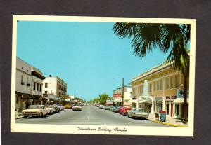 Fl Downtown Sebring Florida Stores Ridgewood Ave Postcard Old Cars