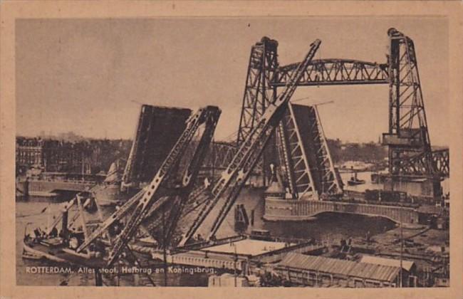 Netherlands Rotterdam Alles Staat Hefbrug en Koningsbrug