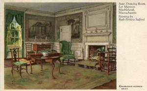 MA - Marblehead, Lee Mansion State Drawing Room (Painting By Ruth Perkins Saf...