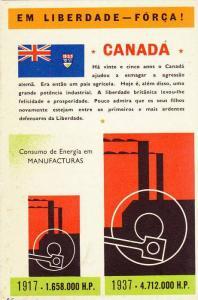 Chart postcard: Em Liberdade - FORCA! , Canada , 1917-1937
