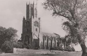 Fotheringay Church Real Photo Postcard