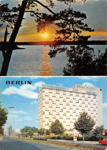 GG11580 Berlin Sonnenuntergang an der Havel, Budapester Strasse Hotel Hilton
