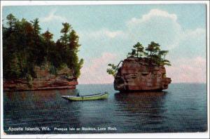 WI - The Apostle Islands. Presque Isle or Stockton, Lone Rock