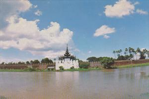 Myanmar Burma Royal Palace Moat At Mandalay