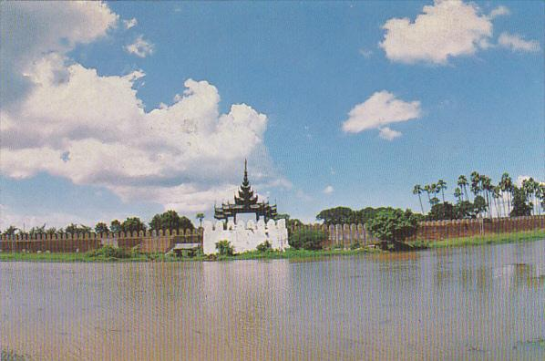 Myanmar Burma Royal Palace Moat At Mandalay