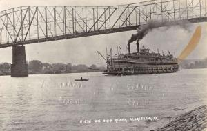 Marietta Ohio River Waterfront Real Photo Antique Postcard K60289