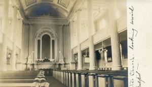 MA - South Hadley, Center Church Interior  **RPPC