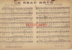 Postcard No. 56 - LE BEAU REVE - PAROLES de E. DUCROS, MUSIQUE de A. FLEGIER