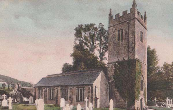 Lustleigh Church Devon Antique Friths Postcard Unused MINT
