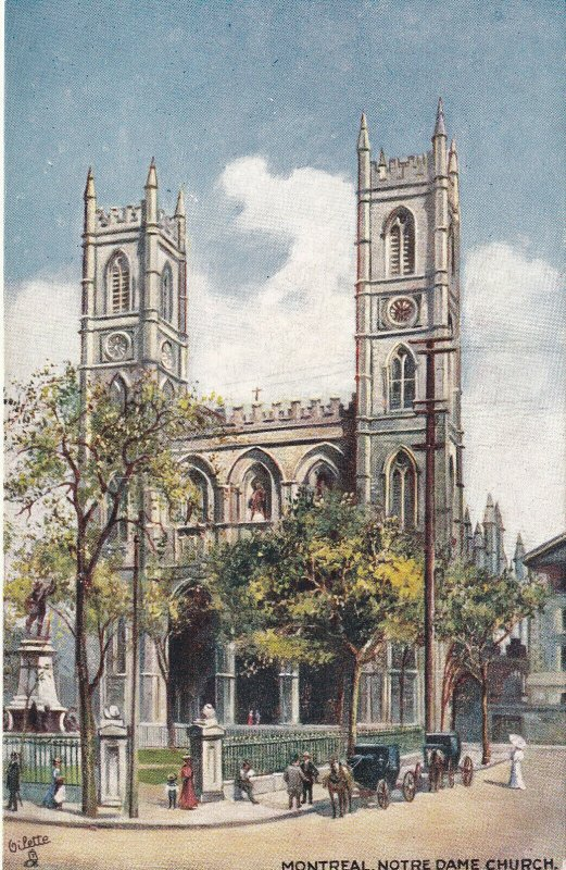 MONTREAL, Quebec, Canada, 1900-1910s; Notre Dame Church, TUCK No. 2553