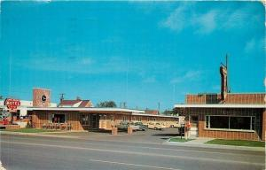 Ironwood Michigan~Mt Zion Hotel Streetview and Cars on US 2 and US 51 1964 PC