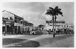 Ghana Gold Coast Kumasi Kingsway Street RP Postcard