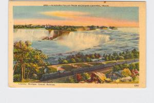 VINTAGE POSTCARD NATIONAL STATE PARK NIAGARA FALLS FROM MICHIGAN CENTRAL TRAIN