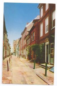 Elfreth's Alley Philadelphia PA Mike Roberts Postcard