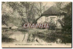 Old Postcard Rambouillet Park and the Shell River