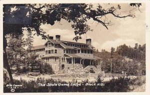 South Dakota Black Hills State Game Lodge Real Photo RPPC