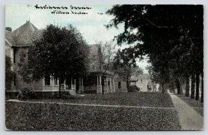 Wilton Iowa~Mostly Small, Set-Back Homes~Bluesky Photoette~CU Williams 1909 PC
