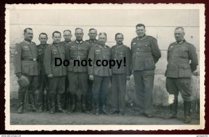 dc522 - AUSTRIA Leibnitz 1941 Named Nazi Soldiers. Real Photo Postcard