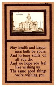 Iowa Decorah , Court House RPC and Poem