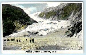 RPPC  FRANZ JOSEF GLACIER, New Zealand NZ ~ Handcolored Photo 1962  Postcard