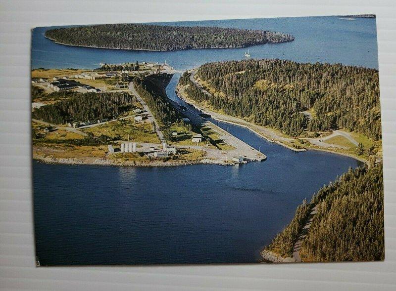 Vintage Postcard St Peters Canal Bras d'Or Lakes Cape Breton Nova Scotia Canada