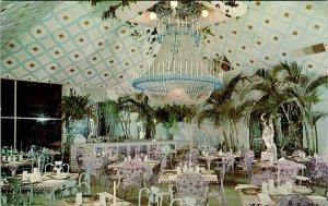 Clearwater Florida Kapok Tree Chandelier Room Restaurant Advertising Postcard