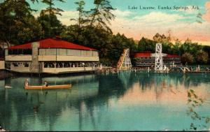 Arkansas Eureka Springs Boating On Lake Lucerne 1937 Curteich