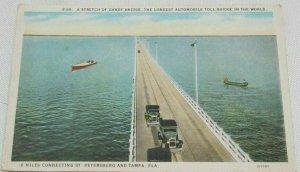 1925 A Stretch Of Gandy Bridge, The Longest Automobile Toll Bridge In The World