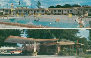 DELAND , Florida , 1950-60s , Dixie Motor Lodge , Swimming Pool