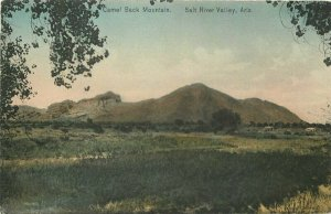 Camelback Mountain Salt River Valley Arizona C-1910 Postcard hand colored 8212