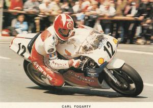 Carl Fogarty TT Races Motorbike Superbike Isle Of Man Limited Edition Postcard