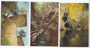 Wisconsin Dells River Canyon Visor Ledge Witches (3 Cards)