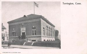 Post Office, Torrington, Connecticut, Very Early Postcard, Unused