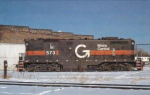 Maine Central GP7 Locomotive #573 In South Portland Maine