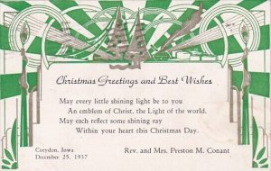 Christmas Greetings And Best Wishes Corydon Iowa