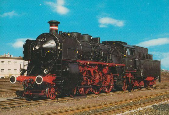 Schnellzug Lokomotive 181 505  German Train Postcard