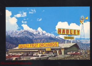 CABAZON CALIFORNIA HADLEY FRUIT ORCHARDS STORE 1960's CARS