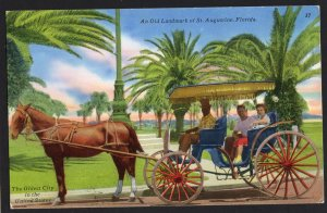 Florida ST. AUGUSTINE An Old Landmark - Horse Drawn Carriage - Chrome LNCM