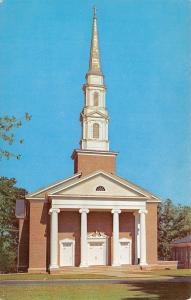 Anderson South Carolina~Central Presbyterian Church~1950s Postcard