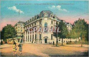 Postcard Old Saint Etienne Le Nouvel Hotel Post Avenue President Faure