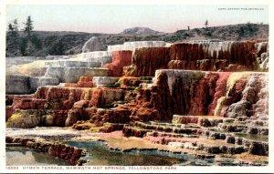 Yellowstone National Park Hymen Terrace Mammoth Hot Springs Detroit Publishing