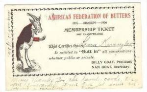 Goat comic  American Federation of  Butters , 1906