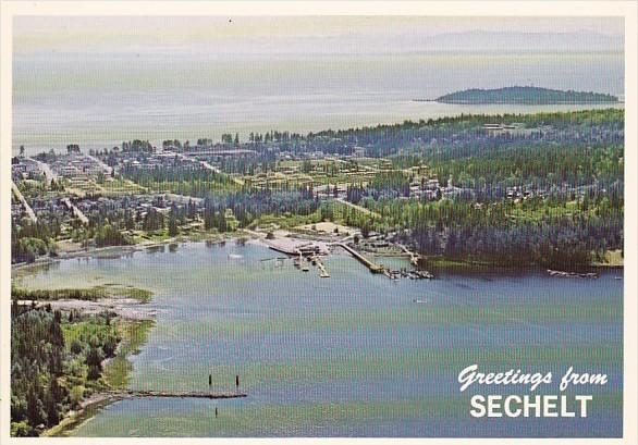 Canada British Columbia Greetings From Sechelt