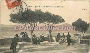 Postcard Old Nice The castle terrace