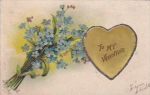 Valentine's Day With Embroidered Gold Heart 1908