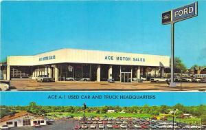 Woodbury NJ Ace Motor Sales Ford Used Cars & Trucks Dealership Postcard