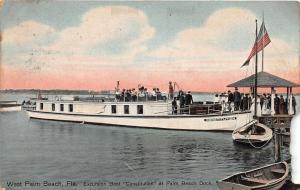 F13/ West Palm Beach Florida Postcard 1911 Excursion Boat Constitution